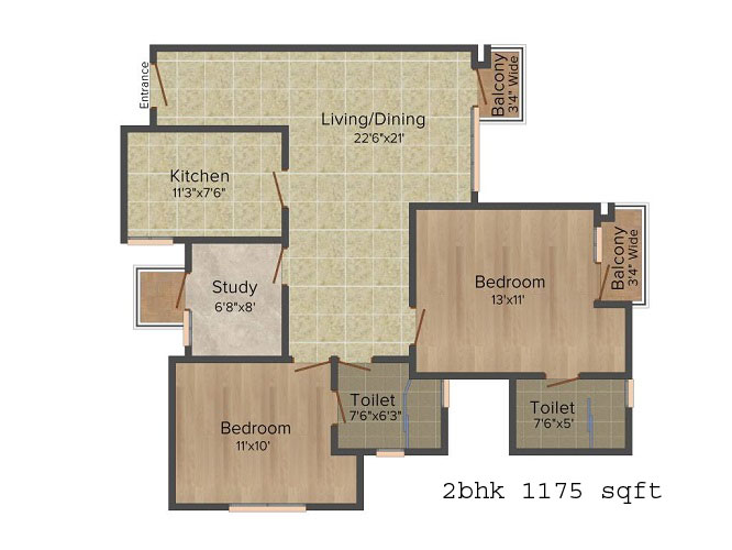 logix blossom greens 2bhk 1175 sqft
